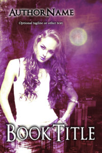 Premade Exclusive Book Cover 673 purple